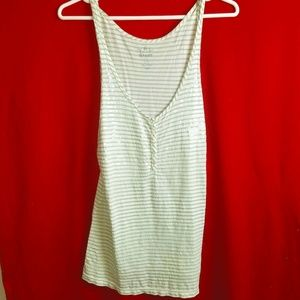 Women's Old Navy Loose Fit Striped Tank Size Large